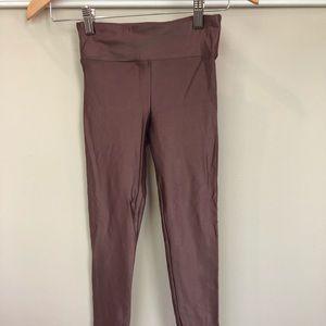 ATHLETA Elation Shimmer Legging XXS Coffee Brown